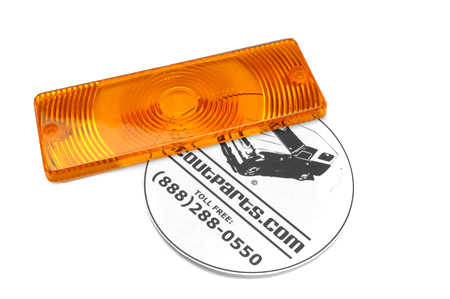 Amber Front Turn Signal/Parking Light Lens For Travelall and Pickup.