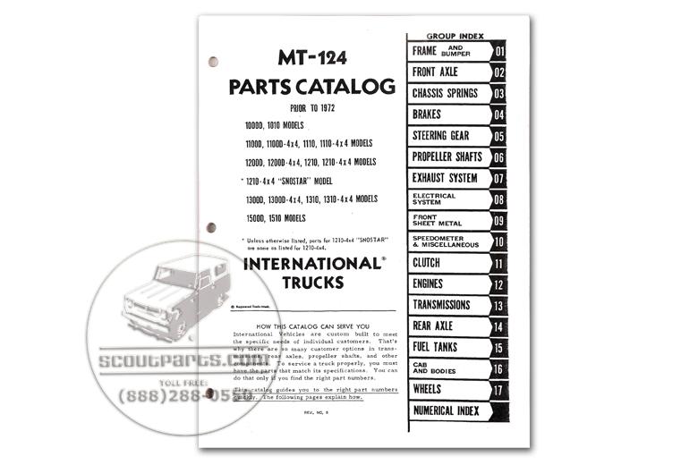 Parts Manual - MT124 (1969-1971)
