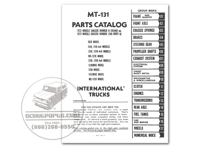 Parts Manual - MT-131 (1972-1973)