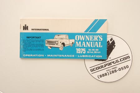 1975 Pick Up Truck Owners Manual