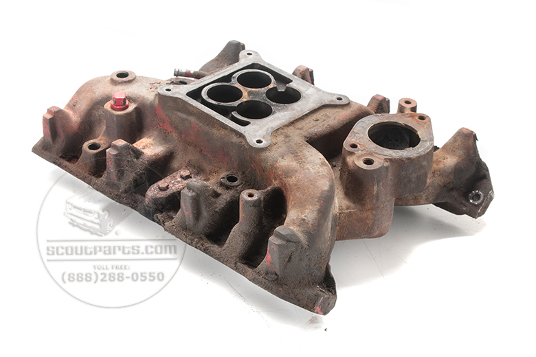 Four Barrel Intake Manifold for V8, USED Square bore