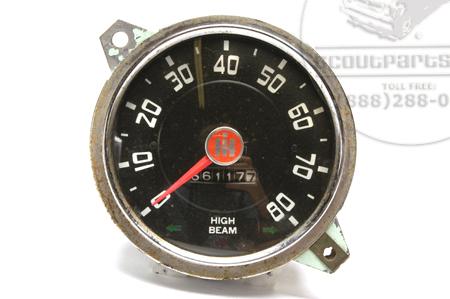 Speedometer Head, White Lettering, Used