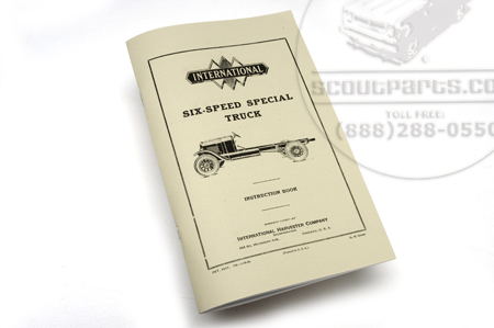 Six Speed Special truck service parts manual
