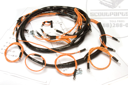 Wiring Harness, 1947-49 Model KB-1, KB-2, and KB-3 Dash, Engine and Headlight Harness