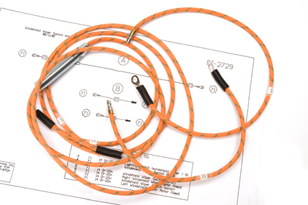 Wiring Harness, 1947-49 Model KB-1, KB-2, and KB-3 Windshield Wiper Switch Wiring