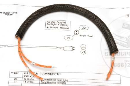 Wiring Harness, 1947-49 Model KB-1, KB-2, and KB-3 Taillight Bucket Wires