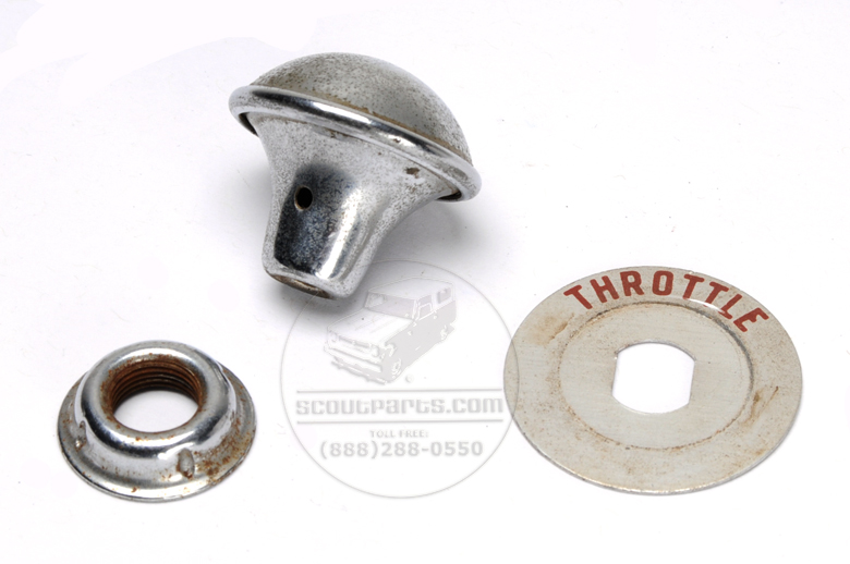Throttle Cable Knob and Plate