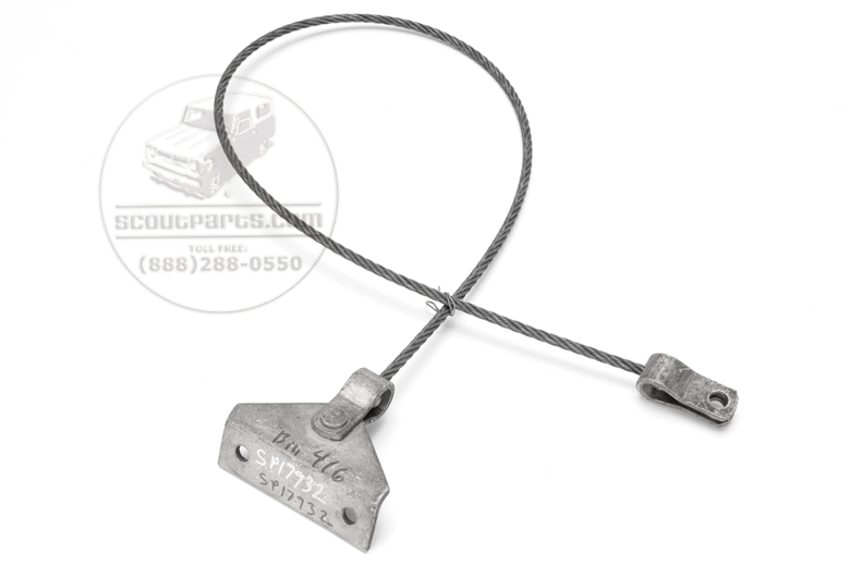 Tail gate retractable cable - 1957 to 1960 Travelall