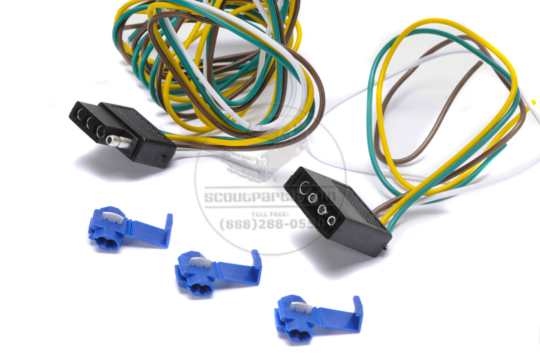 Connector kit  for trailer wiring- 5 foot 4 pole