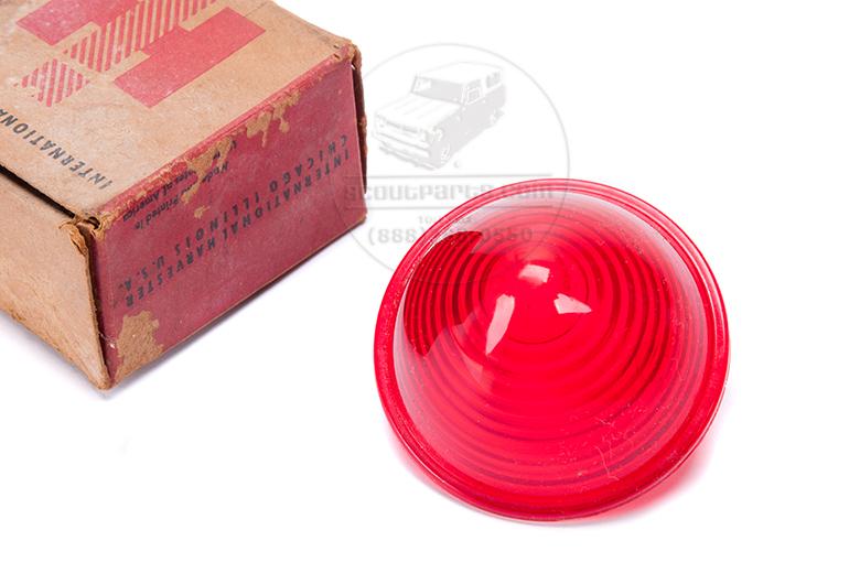 Lens Light Red Marker Lens - New Old Stock