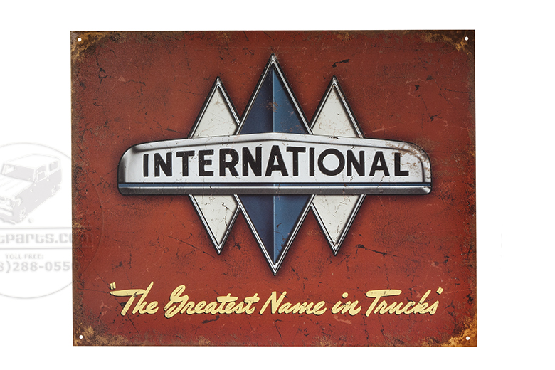 Triple Diamond International Truck  sign