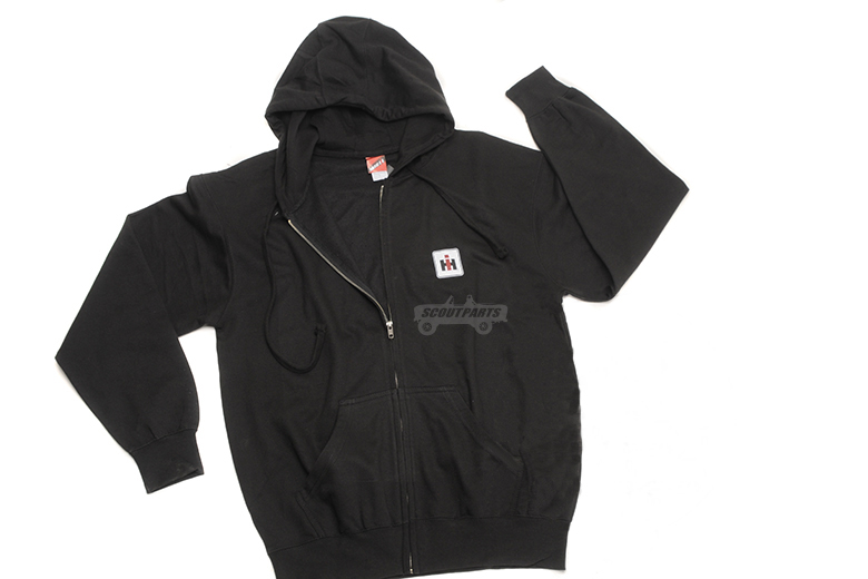 IH Logo Black Zip-Up Hoodie