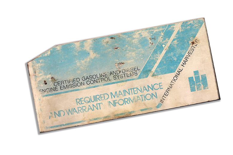 Maintenance manual Diesel for 1977 IH