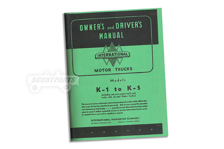 Owner's and Driver's Manual K-1 to K-5