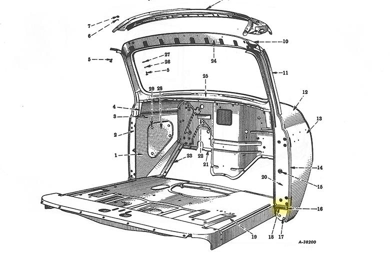Seal, door, inner, lower - R-Series new reproduction
