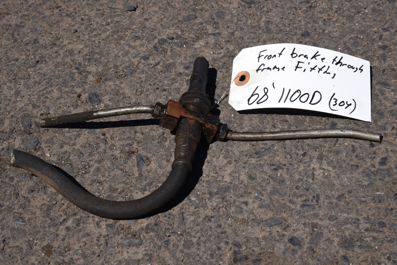 Brake line fame pass through - used