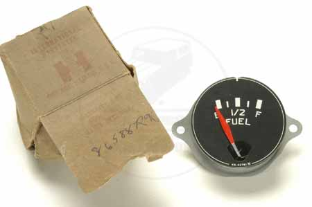 Gauge, Fuel, White Lettering, NOS