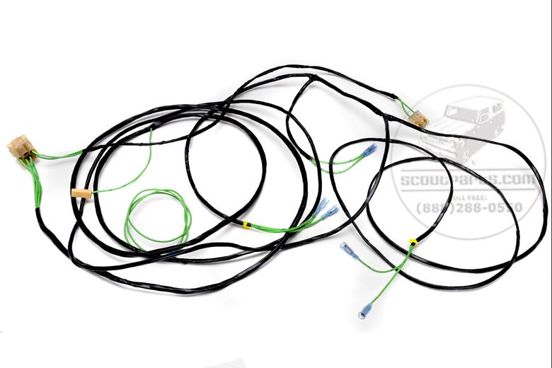 harness wiring Rear - Travelall, Pickup, Travelette  1966 - 68