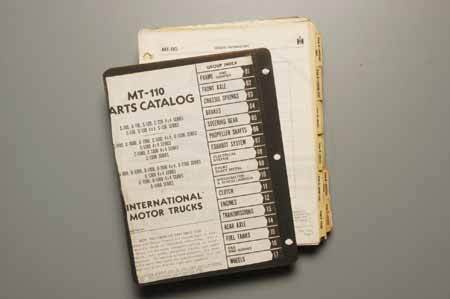 MT-110  Parts manual  1961 to 65 Trucks and Travelalls