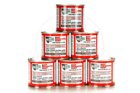 Black POR-15 Six Pack - 4 oz. cans Rust Preventative Paint