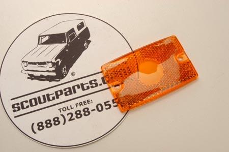 Amber Side Marker Lens For Travelalls and Pickups.