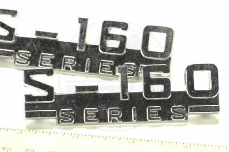 S160 emblem NEW OLD stock.