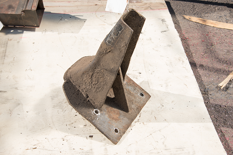 Front Cab to Frame Bracket - used