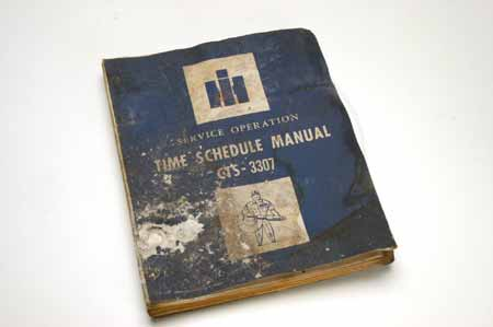 Time Schedule Manual 100/200/500 Series, 2WD, 4x4