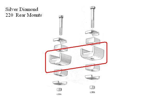 Motor Mount  Silver/Black Diamond Rear Motor Mount
