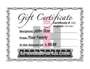 Travelall Gift Certificates