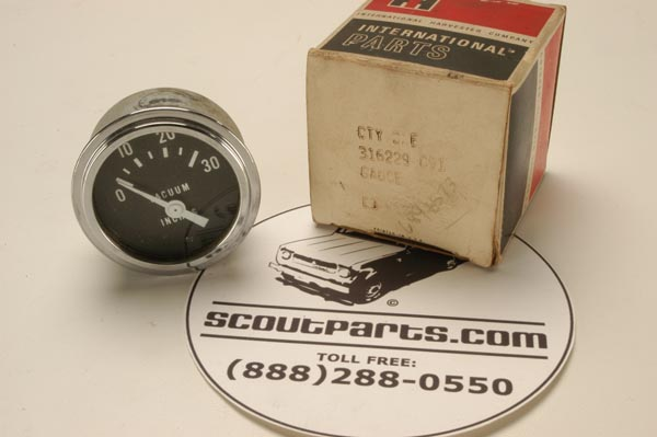 Vacuum Gauge (inches) New Old Stock