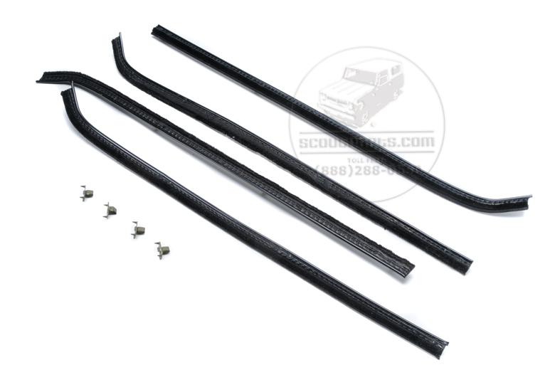 Top door seal Door Window Kit, Travelall, Travelette,  PU 57-68