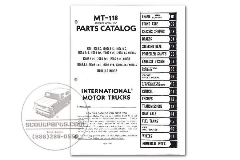Parts Manual - MT-118 (1966-1968)