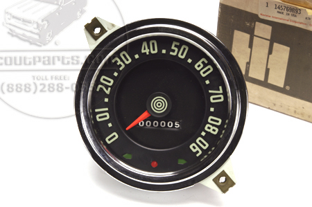 Speedometer Green Lettering 145769R93