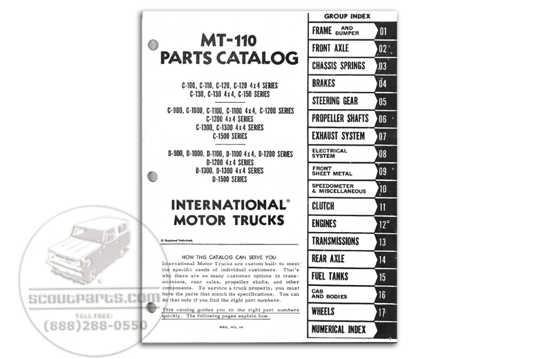 Parts Manual MT-110 (1961 To 1965)