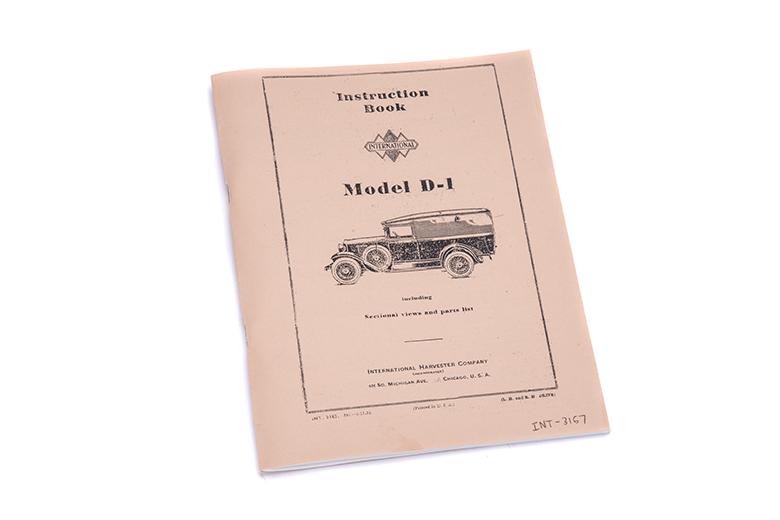 IH D-1 Operator Manuals