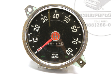 Speedometer Head, White Lettering, Used