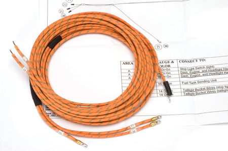 Wiring Harness, 1947-49 Model KB-1, KB-2, and KB-3 Body and Taillight Harness