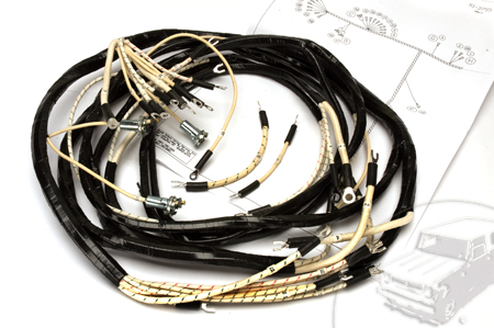 Wiring Harness, 1950-1952 Model L-110 and L-120 Dash, Engine and Headlight to Junction Box Harness