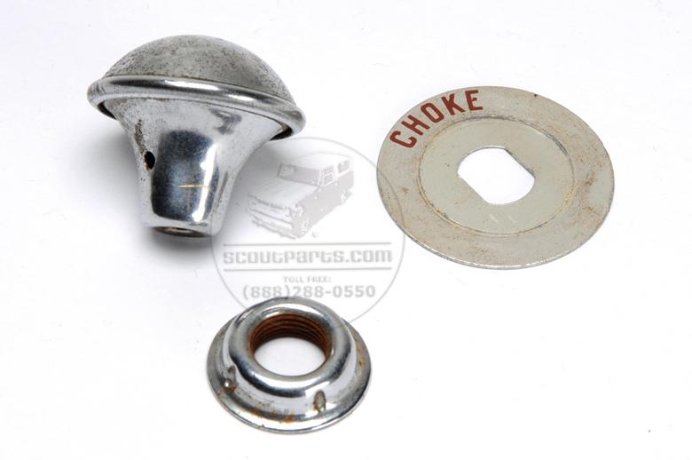 Choke Knob and Plate