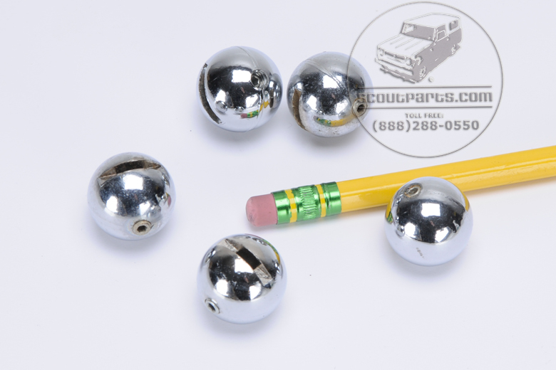 Big Chrome ball for Heat, air, vent adjustment - New old stock