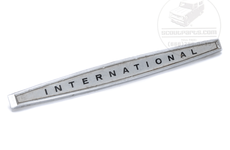 International Name Plate, Emblem For Glove Box For 1961 To 68