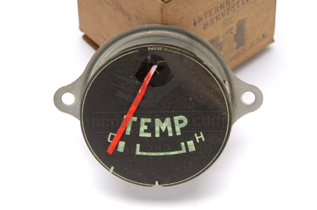 Gauge, Temperature, Green Lettering New Old Stock