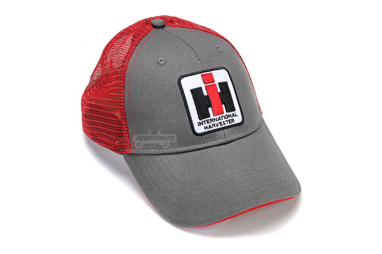 Grey and Red Mesh IH Hat