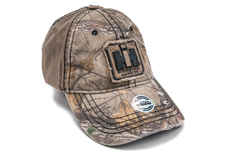 IH Distressed camo hat **Limited quantity
