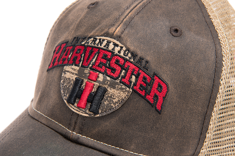 International Harvester Waxed Cloth Hat, Trucker Style Cap