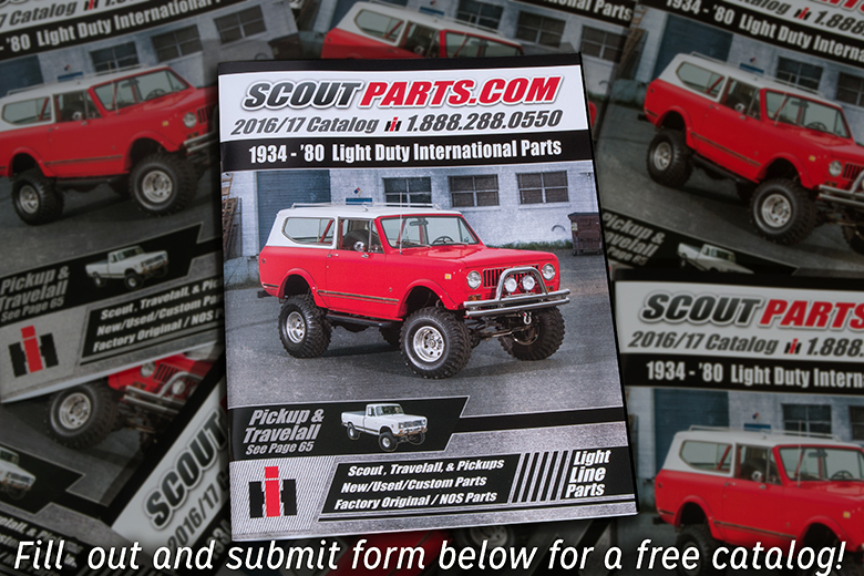 Scoutparts Catalog - 88 Page Full Color Parts Catalog (has some travelall content) Free - $6.95 for shipping.