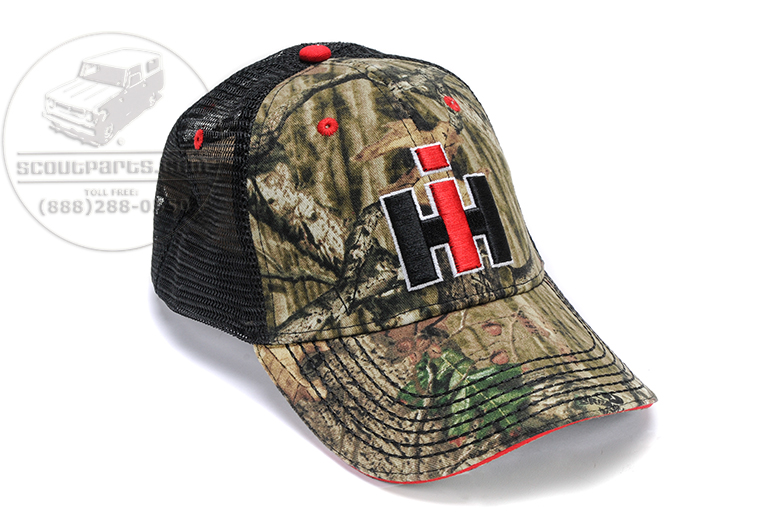 IH logo Camo Trucker  hat
