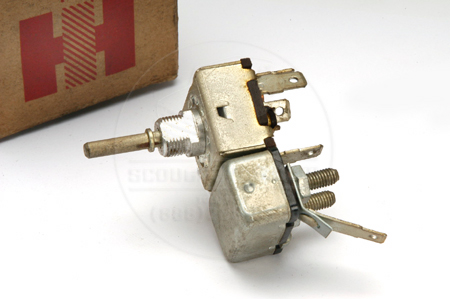 Wiper Switch With Electric Washer Squirts - 1961-1968 Travelall & Pick Up