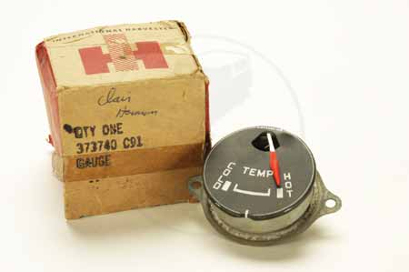 Gauge, Temperature, White Lettering New Old Stock